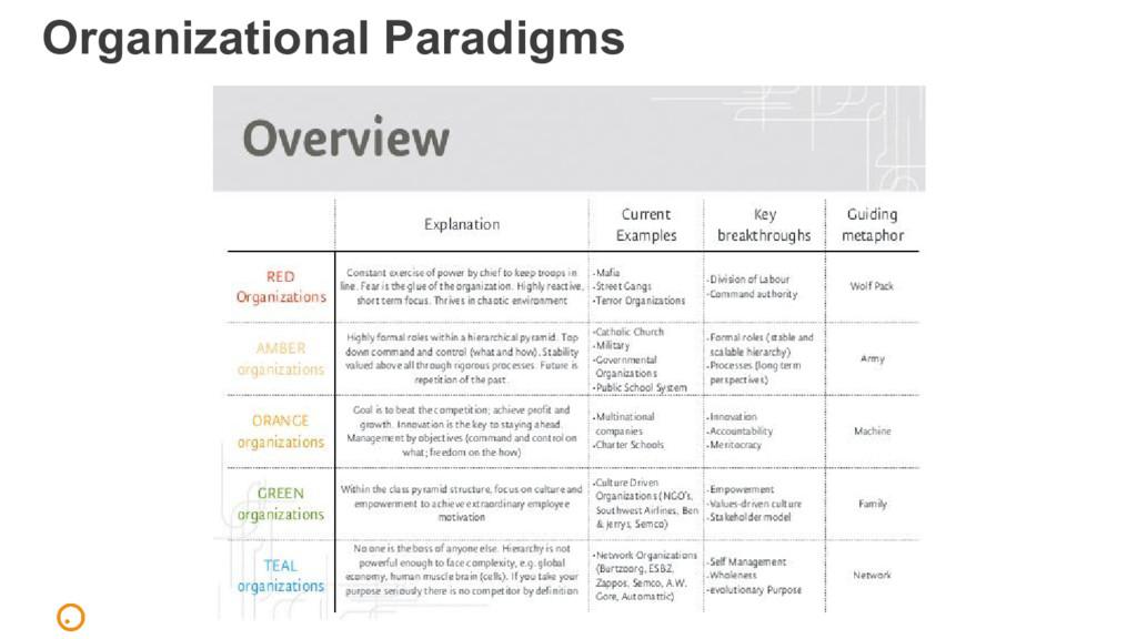 Organizational Paradigms