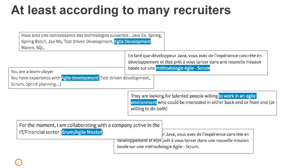 At least according to many recruiters
