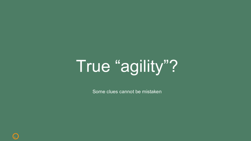 "True ""agility""? Some clues cannot be mistaken"