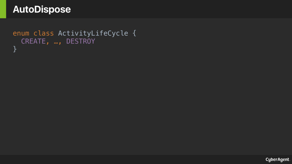 enum class ActivityLifeCycle {