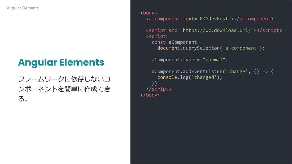 Angular Elements フレームワークに依存しないコ ンポーネントを簡単に作成でき ...