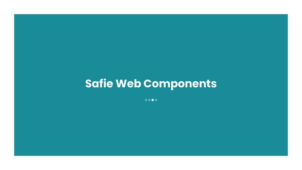 ●●●● Safie Web Components