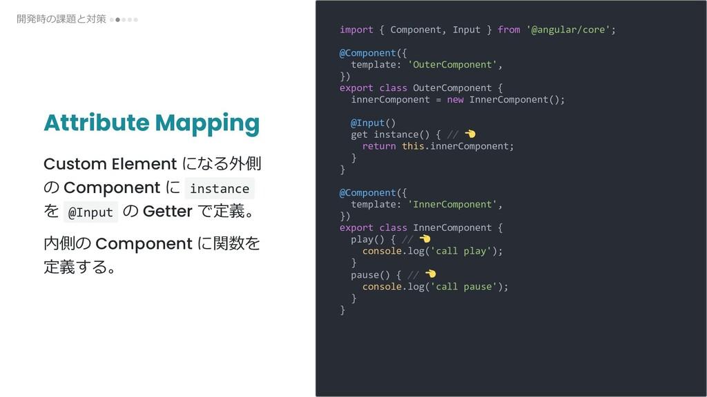 Attribute Mapping Custom Element になる外側 の Compon...