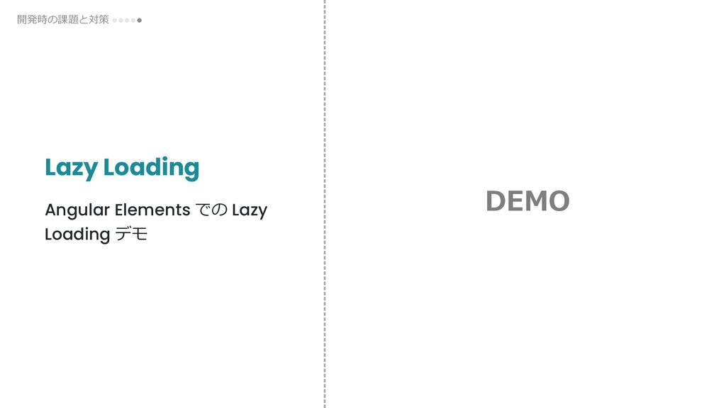 Lazy Loading Angular Elements での Lazy Loading デ...