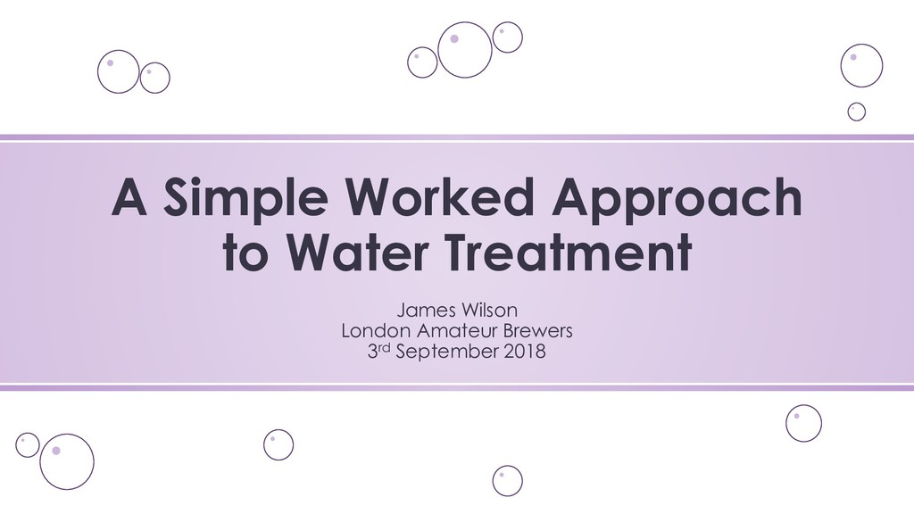 A Simple Worked Approach to Water Treatment Jam...