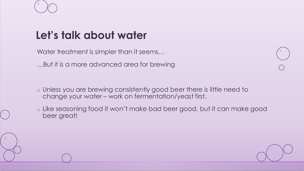 Let's talk about water Water treatment is simpl...