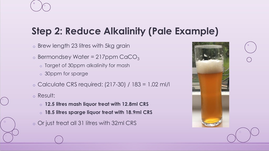 Step 2: Reduce Alkalinity (Pale Example) o Brew...
