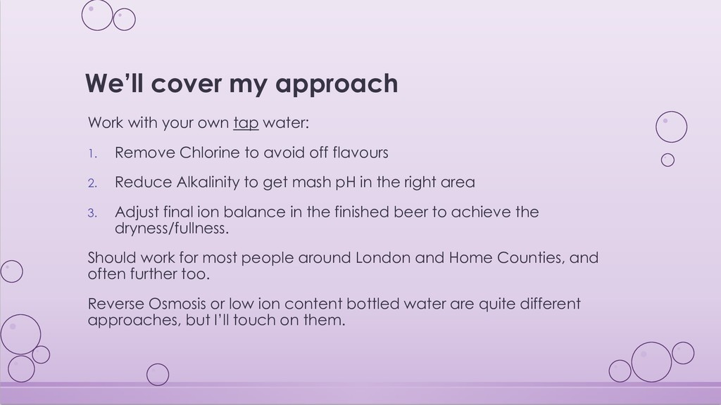 We'll cover my approach Work with your own tap ...