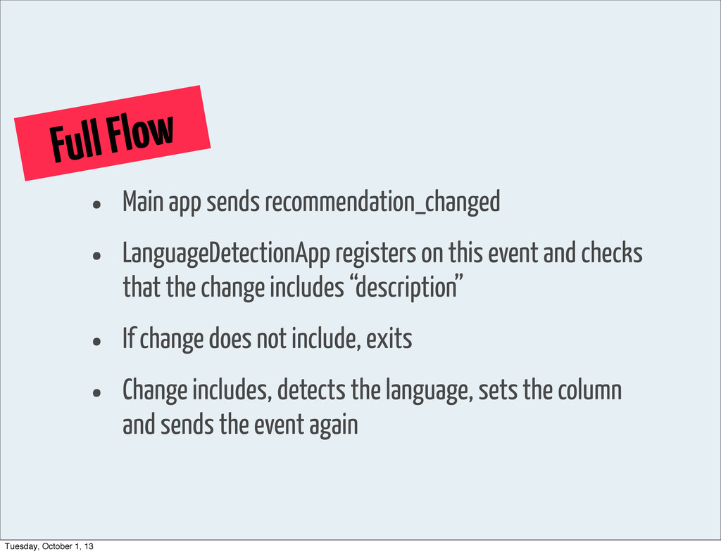 Full Flow • Main app sends recommendation_chang...