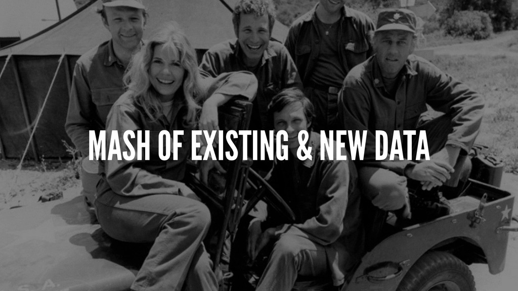 MASH OF EXISTING & NEW DATA
