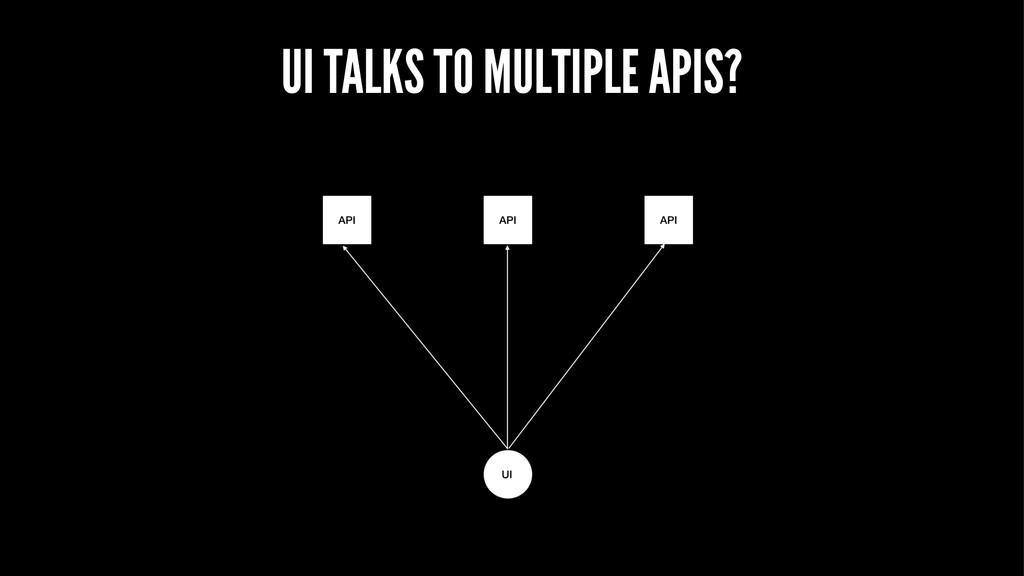 UI TALKS TO MULTIPLE APIS?