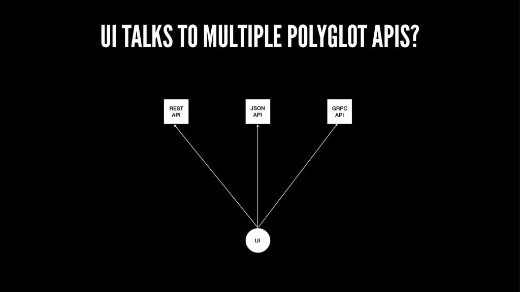 UI TALKS TO MULTIPLE POLYGLOT APIS?