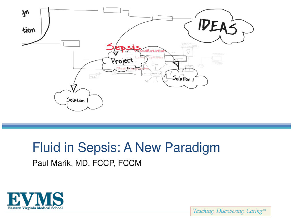 Fluid in Sepsis: A New Paradigm Paul Marik, MD,...