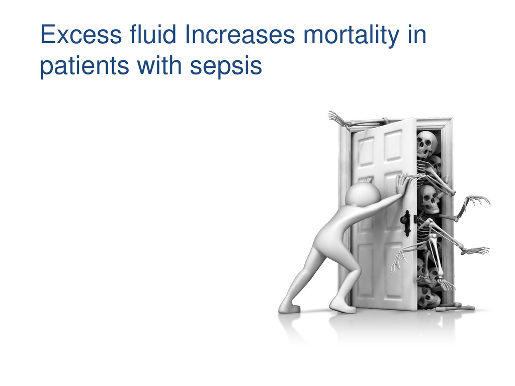 Excess fluid Increases mortality in patients wi...
