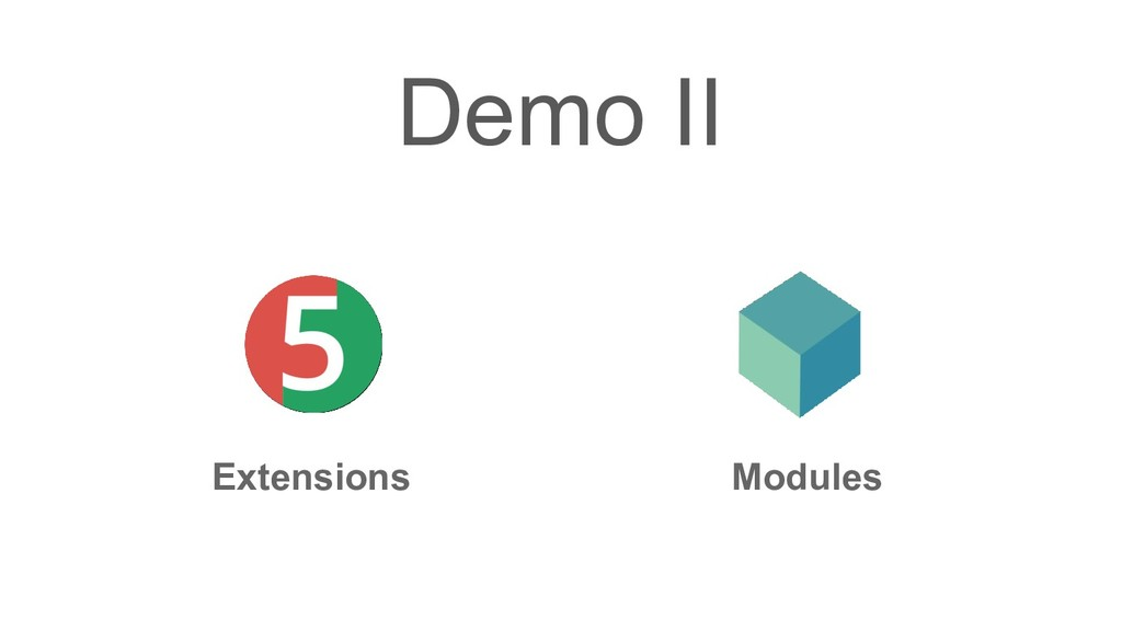 Demo II Extensions Modules