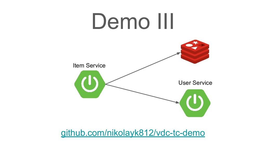 Demo III github.com/nikolayk812/vdc-tc-demo Use...