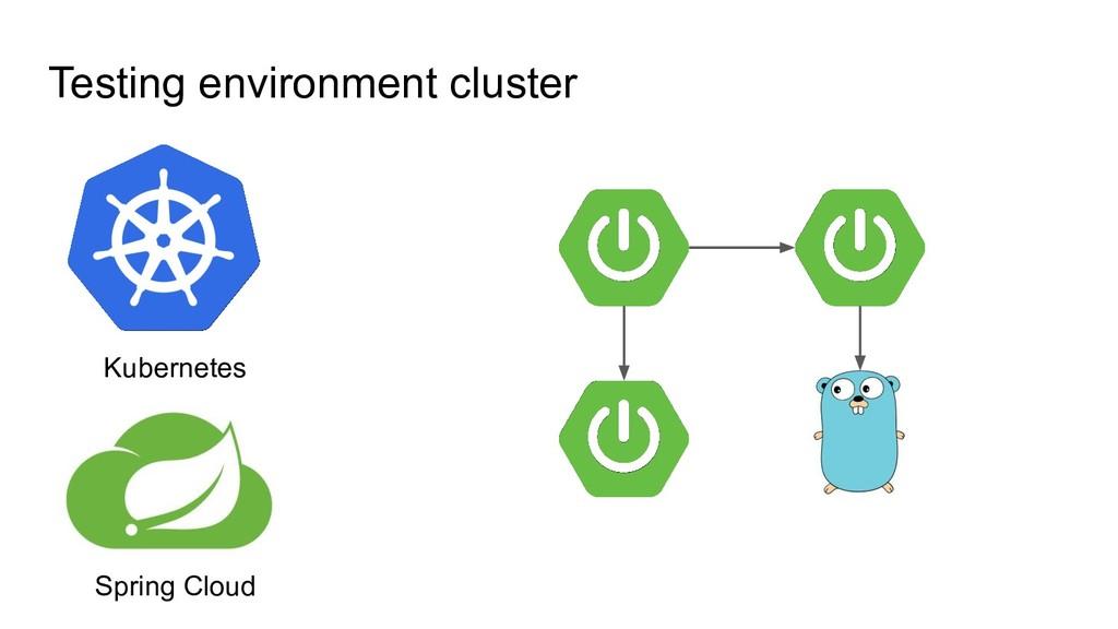 Testing environment cluster Spring Cloud Kubern...