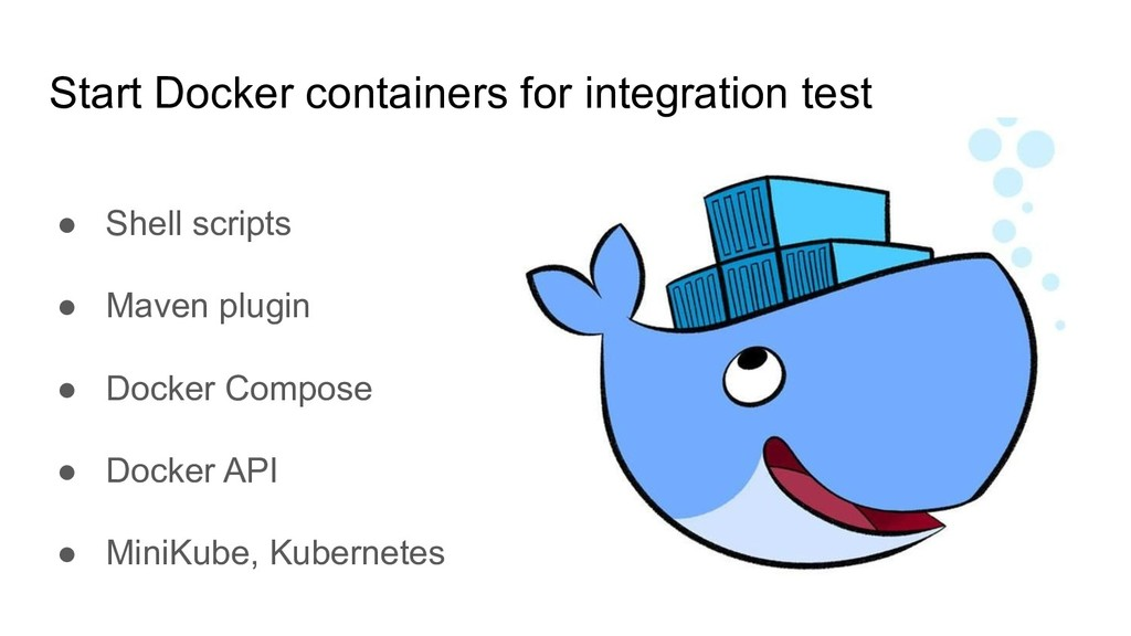 Start Docker containers for integration test ● ...