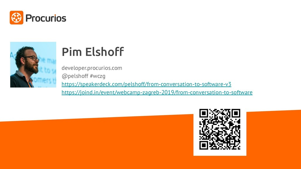 Pim Elshoff developer.procurios.com @pelshoff #w...