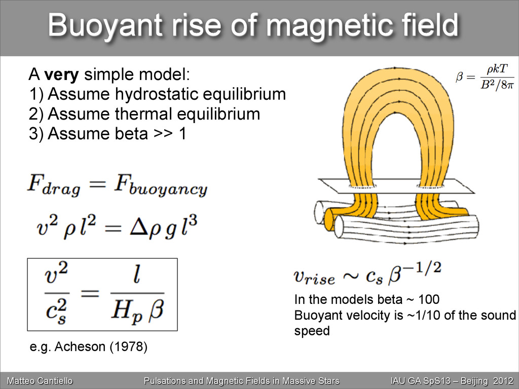 Buoyant rise of magnetic field In the models be...
