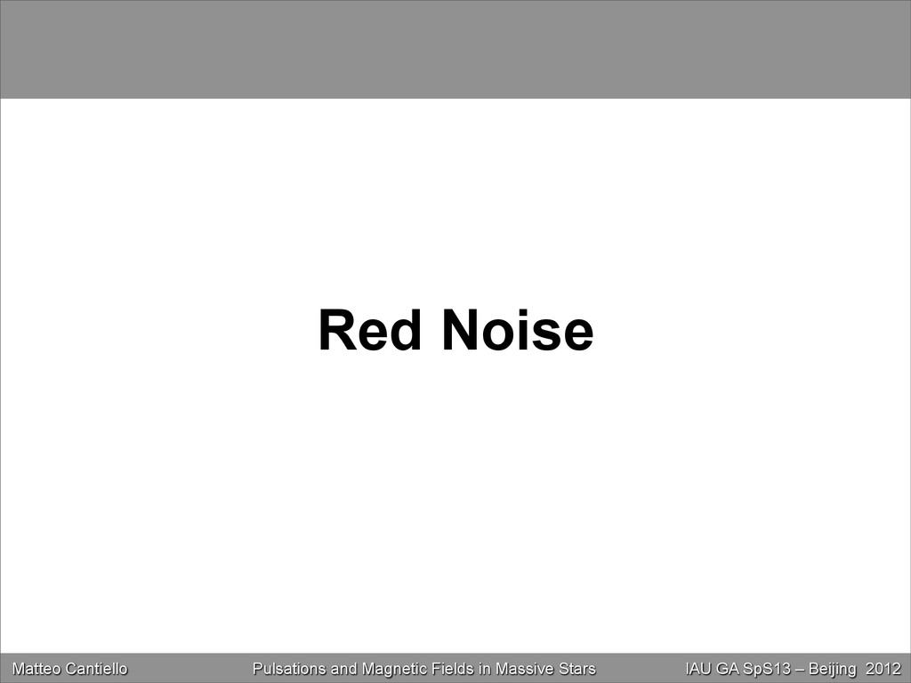 Red Noise Matteo Cantiello Near-Surface Convect...