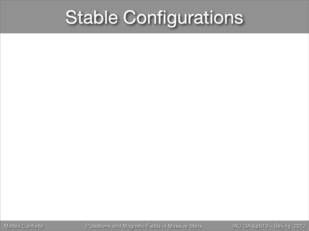 Stable Configurations Matteo Cantiello Magnetic ...