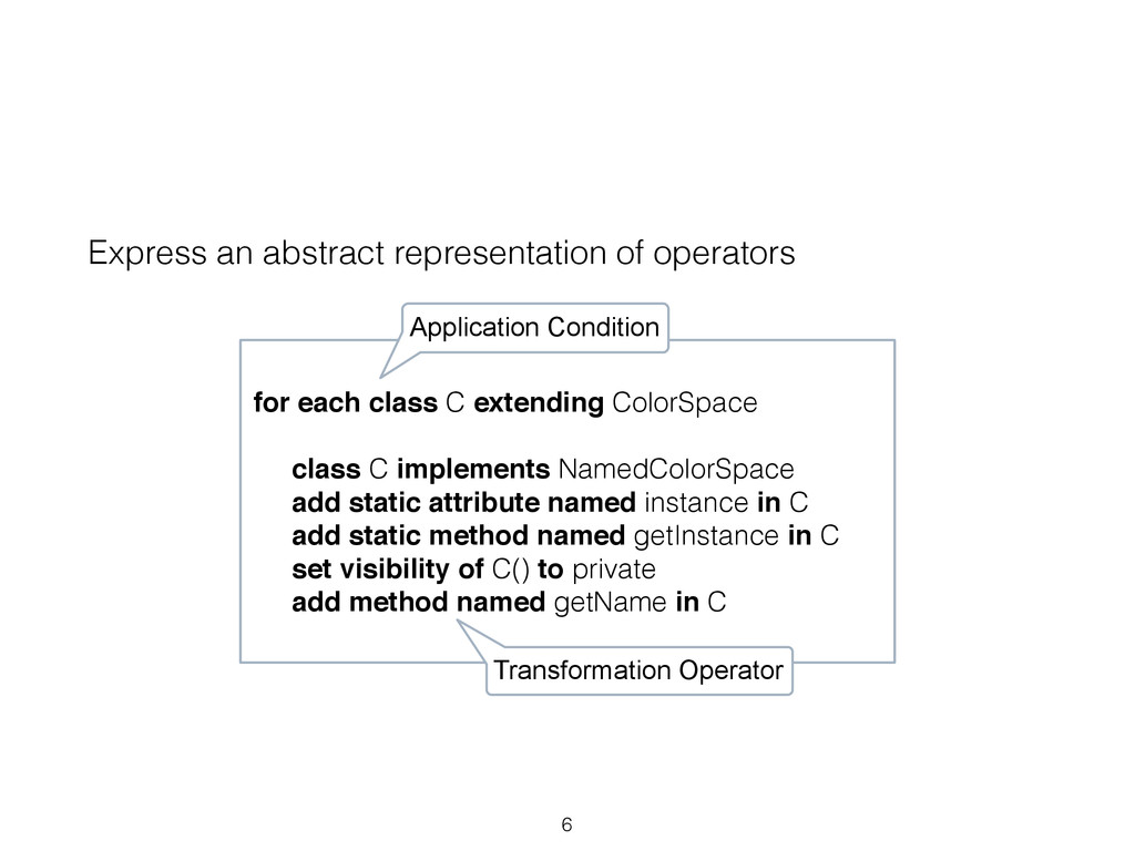 Express an abstract representation of operators...