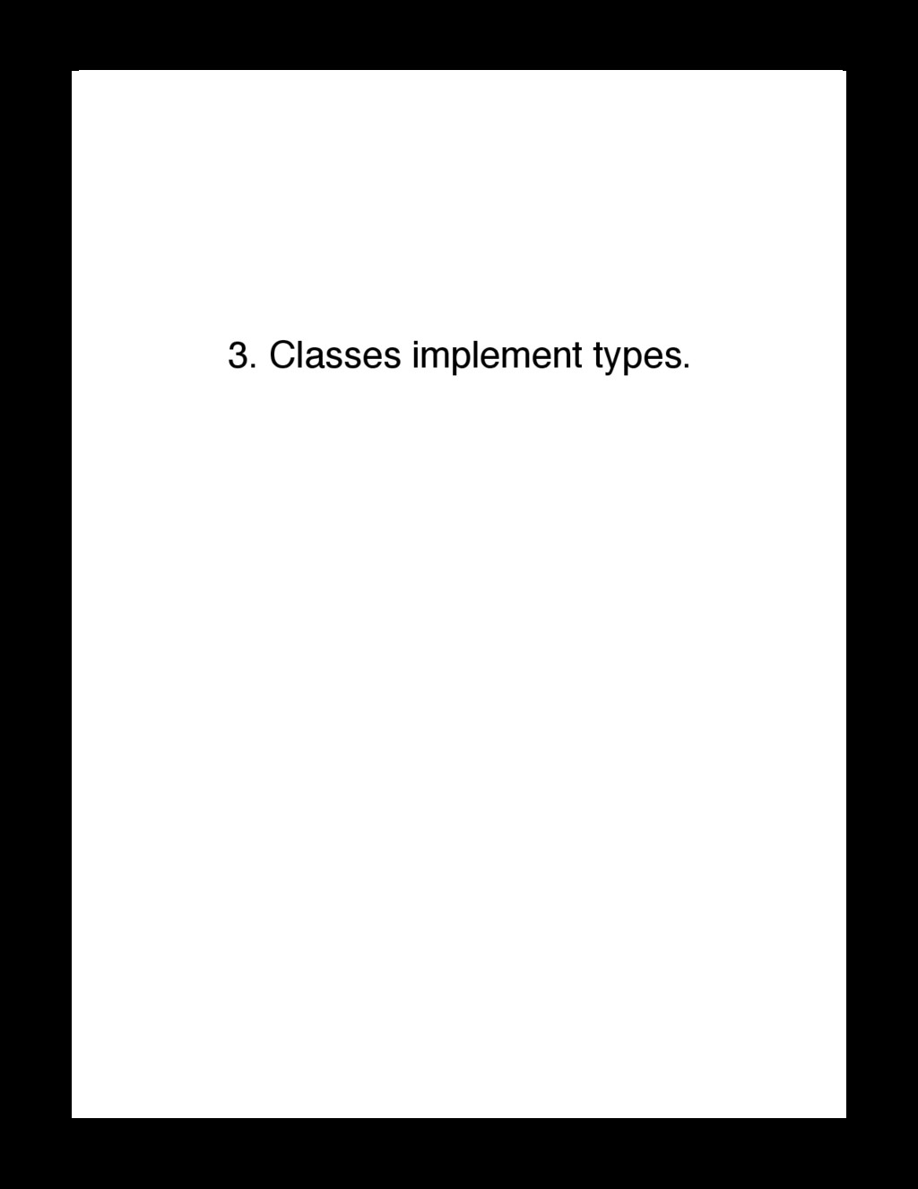 3. Classes implement types. Code Unto Others ht...
