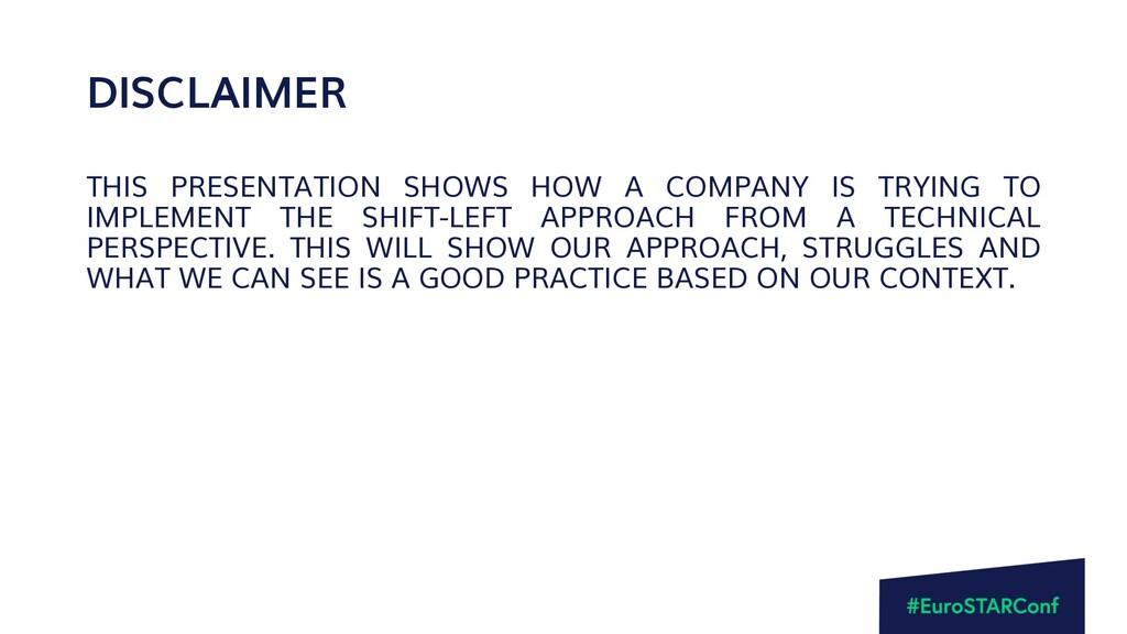 DISCLAIMER THIS PRESENTATION SHOWS HOW A COMPAN...