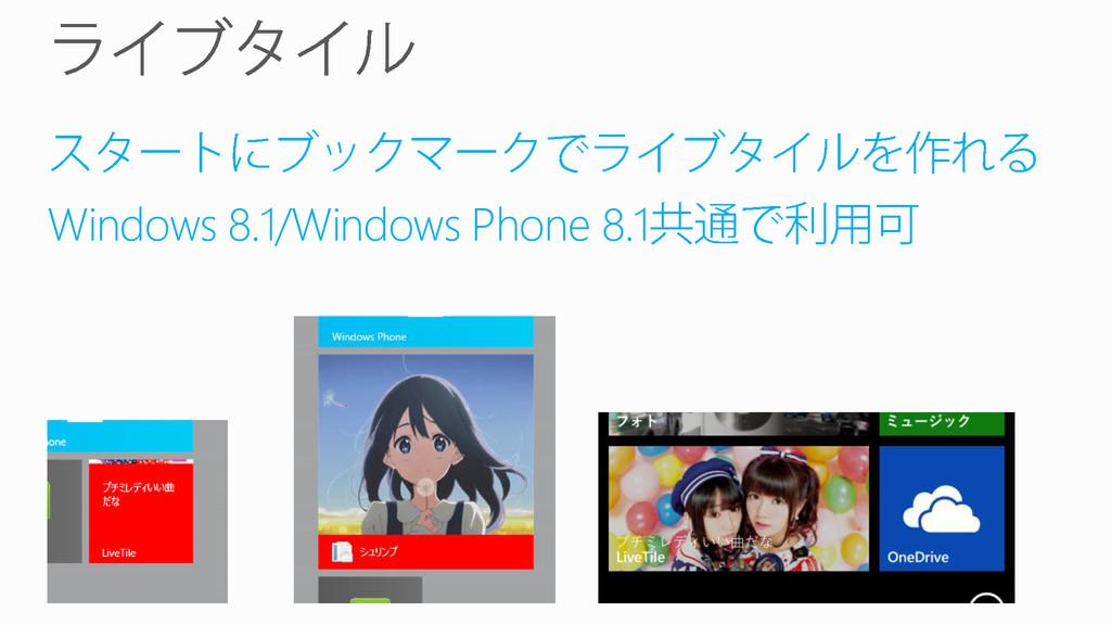 Windows 8.1/Windows Phone 8.1