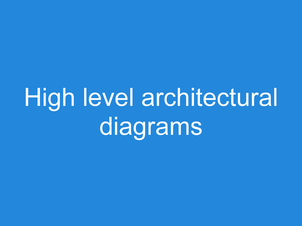 High level architectural diagrams