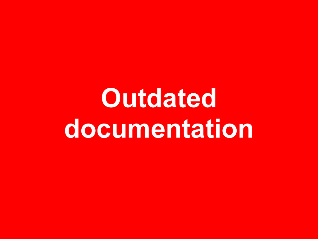 Outdated documentation
