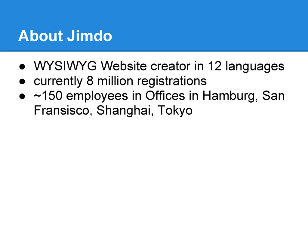 About Jimdo ● WYSIWYG Website creator in 12 lan...