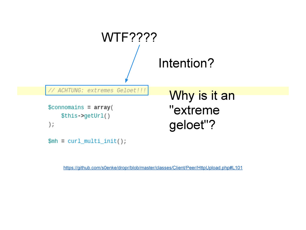 "WTF???? Intention? Why is it an ""extreme geloet..."