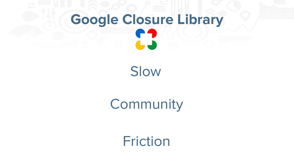 Google Closure Library Slow Community Friction