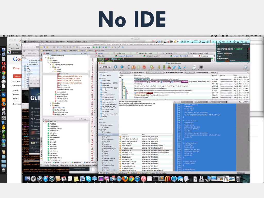 No IDE