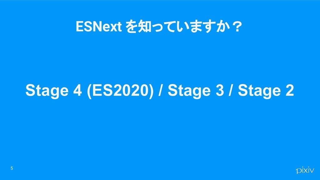 5 Stage 4 (ES2020) / Stage 3 / Stage 2 ESNext を...