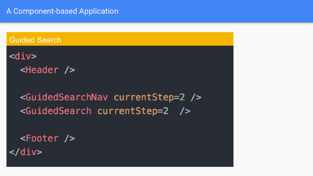 A Component-based Application Guided Search
