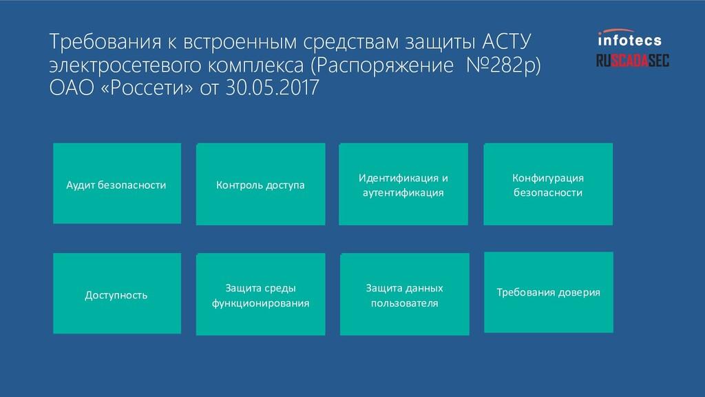 Требования к встроенным средствам защиты АСТУ э...