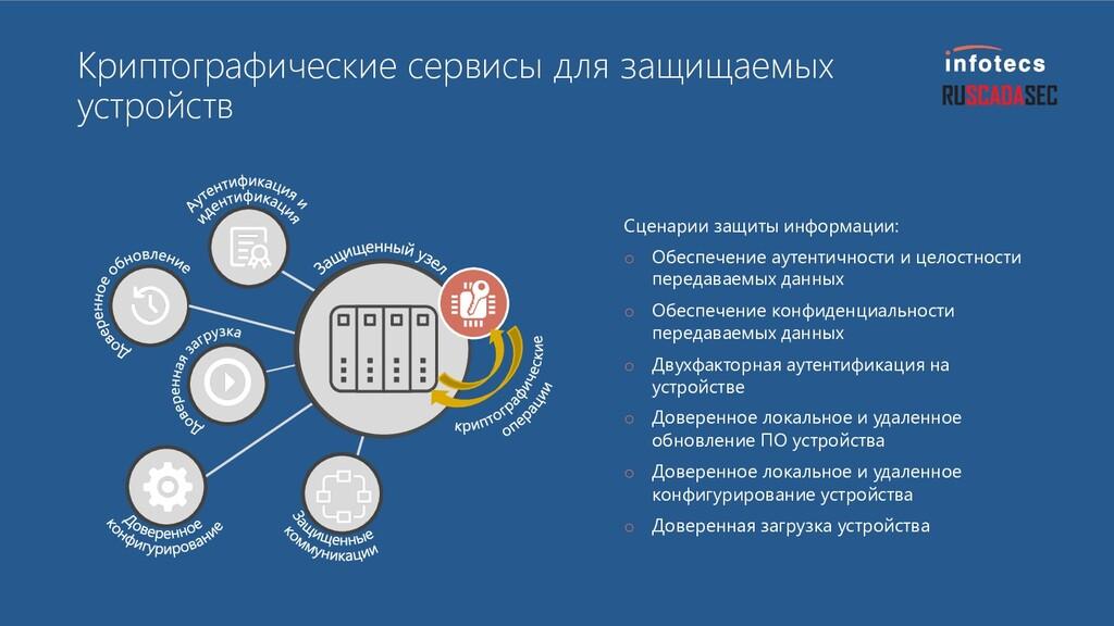 Криптографические сервисы для защищаемых устрой...