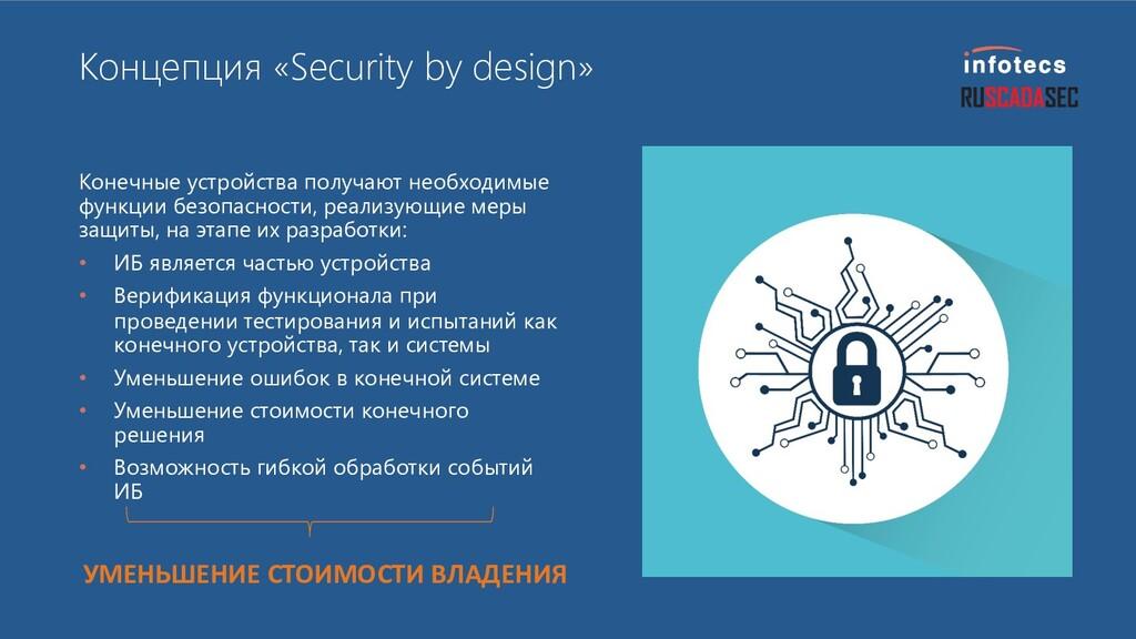Концепция «Security by design» Конечные устройс...