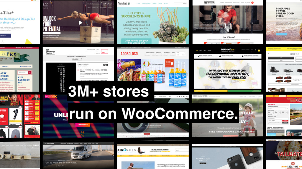3M+ stores run on WooCommerce.