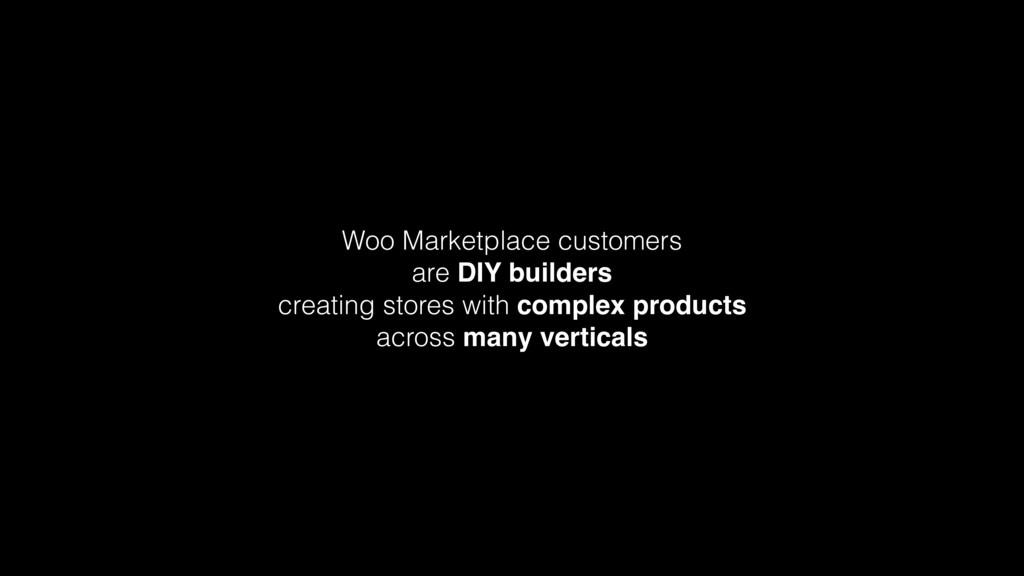 Woo Marketplace customers are DIY builders cr...