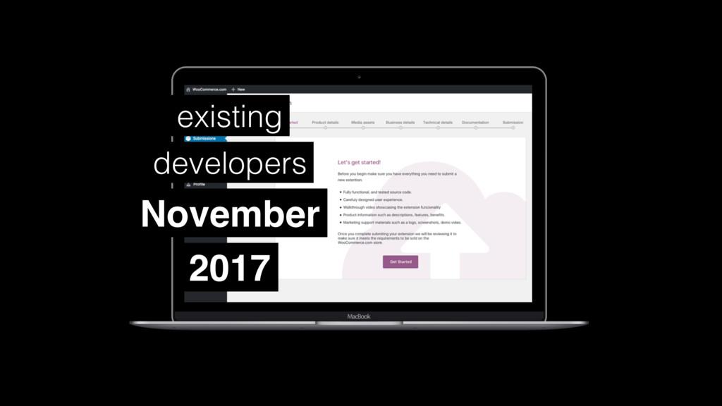 November existing developers 2017