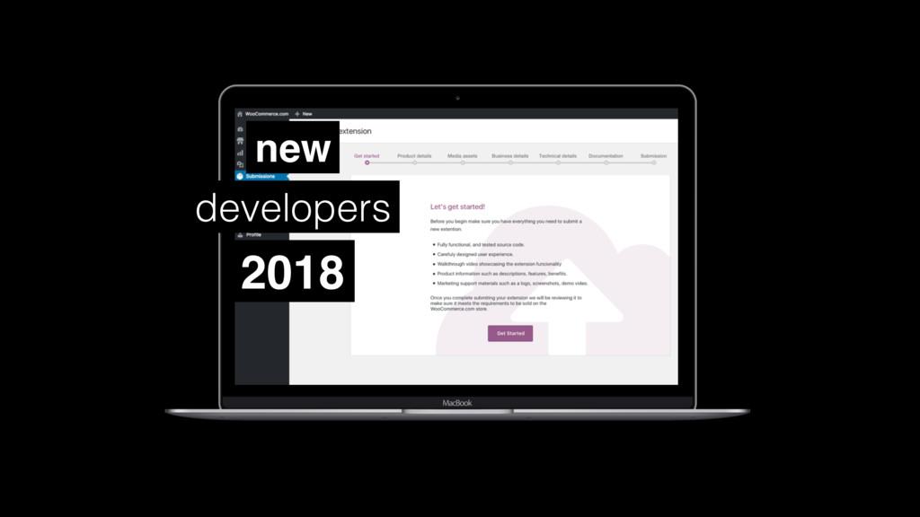 2018 new developers