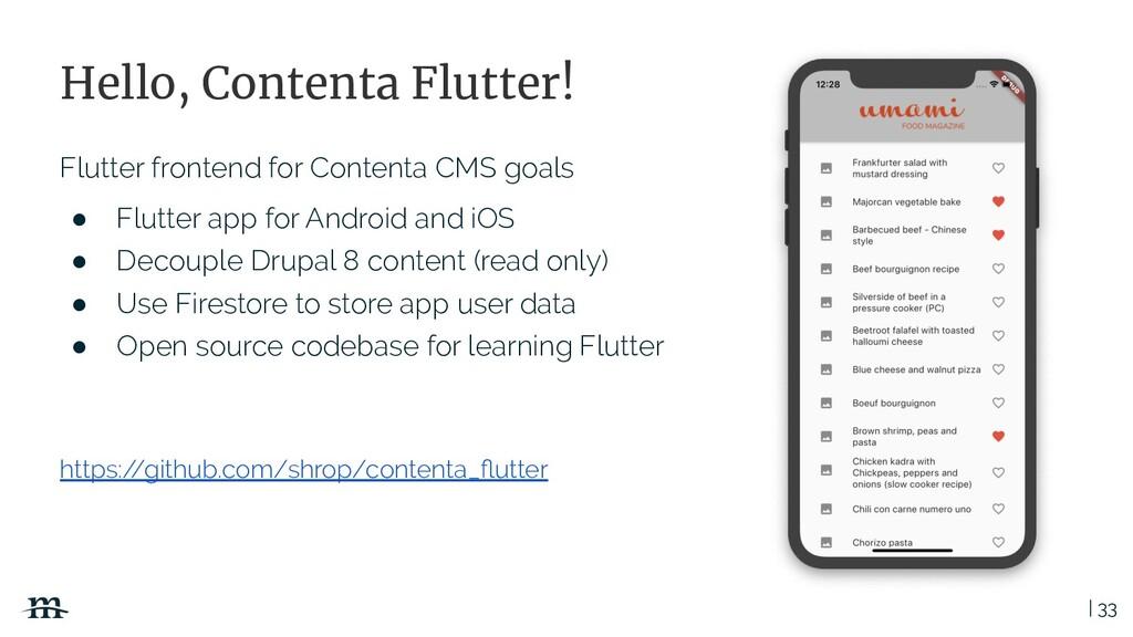 | 33 Hello, Contenta Flutter! Flutter frontend ...