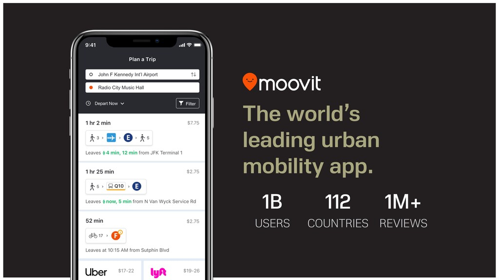 The world's leading urban mobility app. 1B   ...