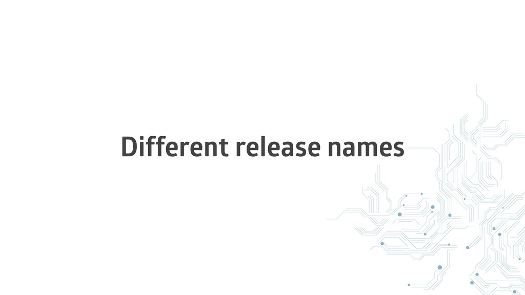 Different release names