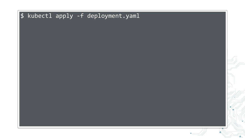 $ kubectl apply -f deployment.yaml