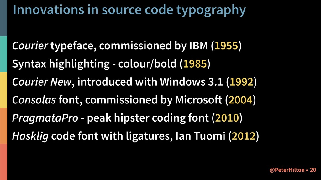 Innovations in source code typography Courier t...